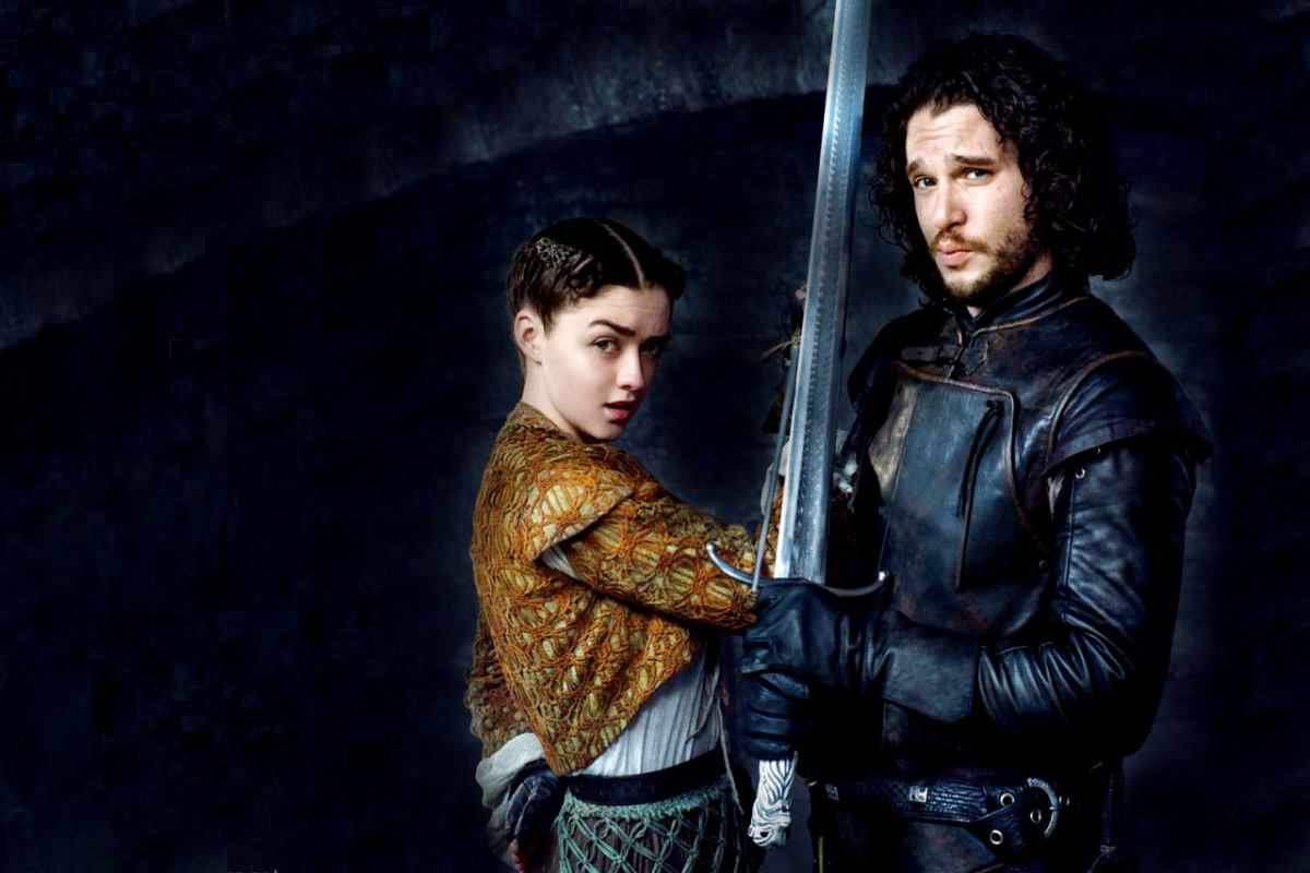 Arya Stark and Jon Snow   Game of Thrones wallpaper 38493702 1200x800