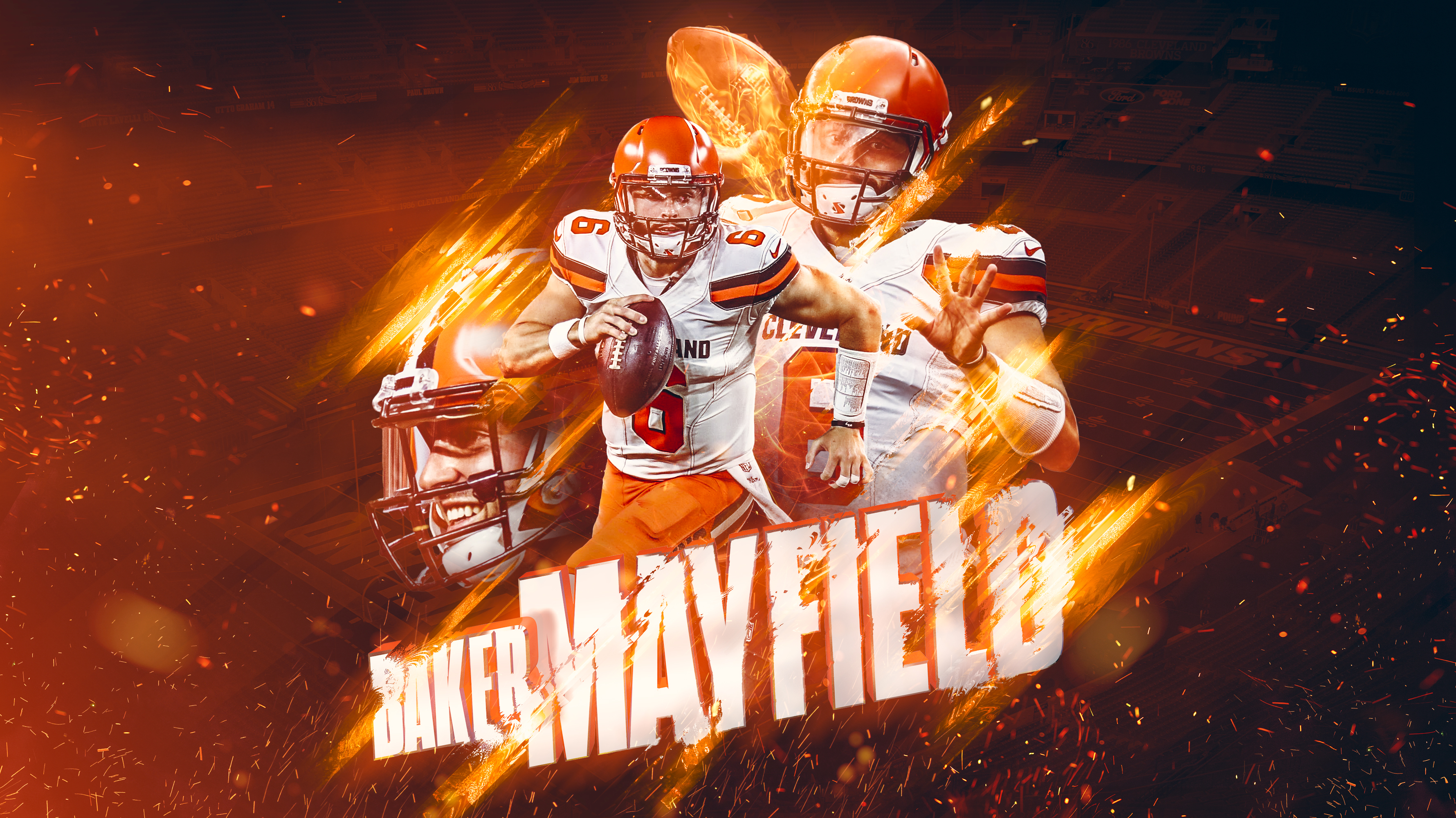 Baker Mayfield Desktop Wallpaper Browns 3560x2000
