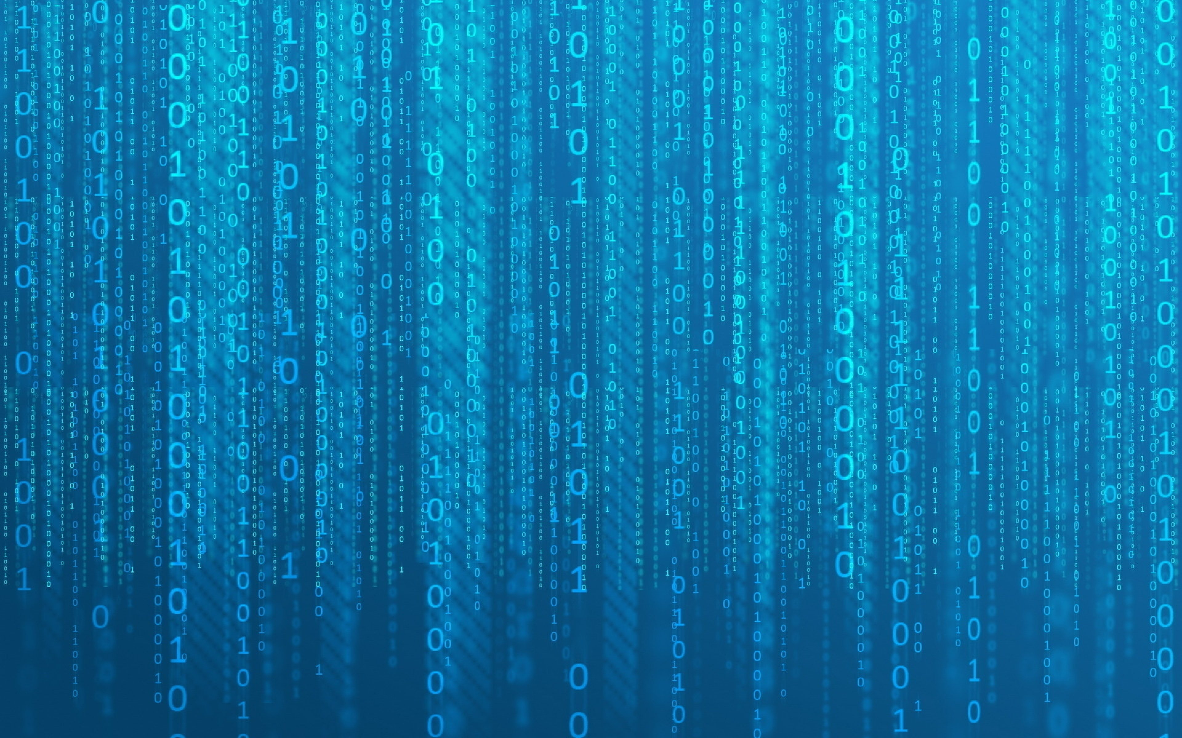 HD Background Binary Numbers 0 1 Matrix Code Blue Abstract Wallpaper 3840x2400