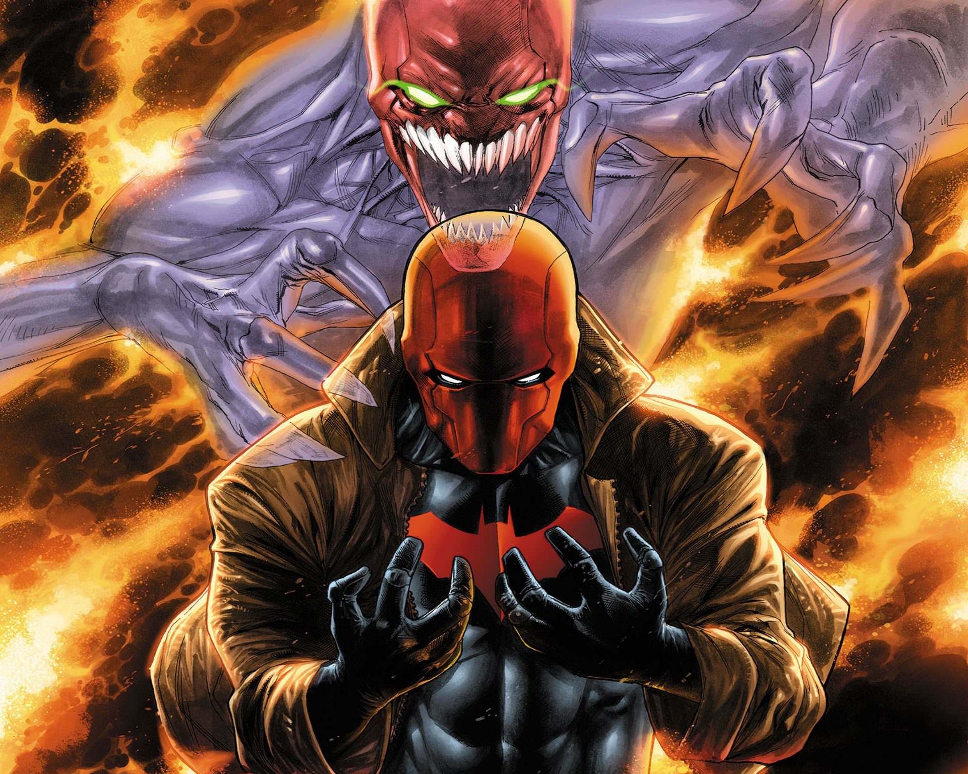 Dc red hood wallpaper wallpapersafari - Hood cartoon wallpaper ...