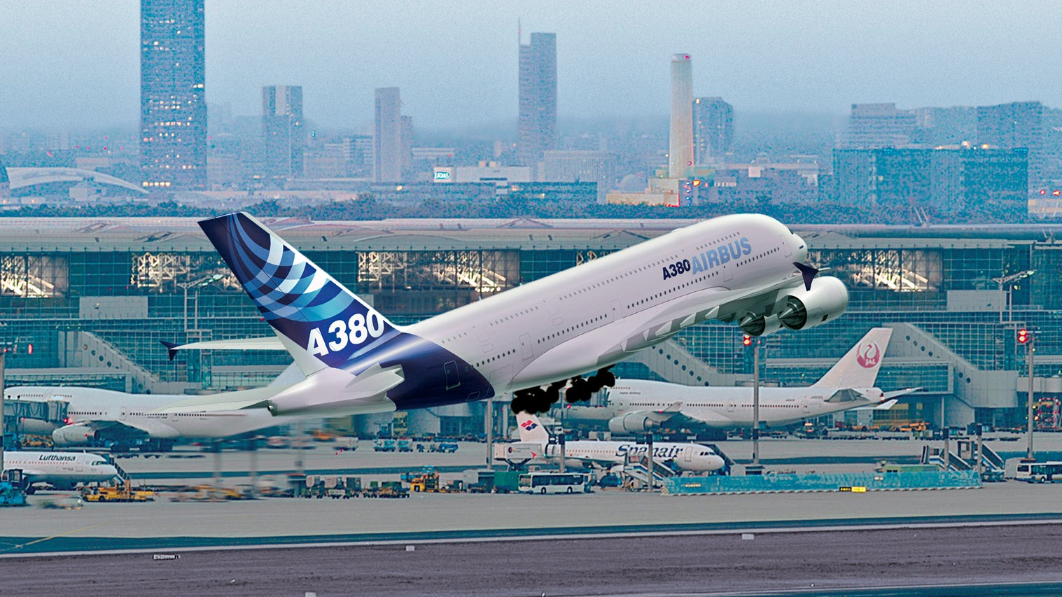 Wallpaper A380   Wallpaper Pictures Gallery 1517x853