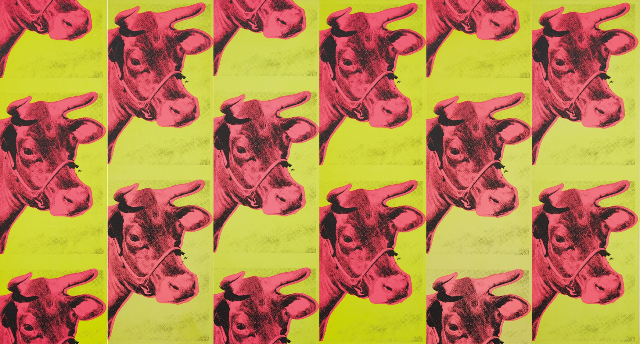 Andy Warhol Cow Wallpaper Wall panels 1966 Estimate 25000 2060x1108
