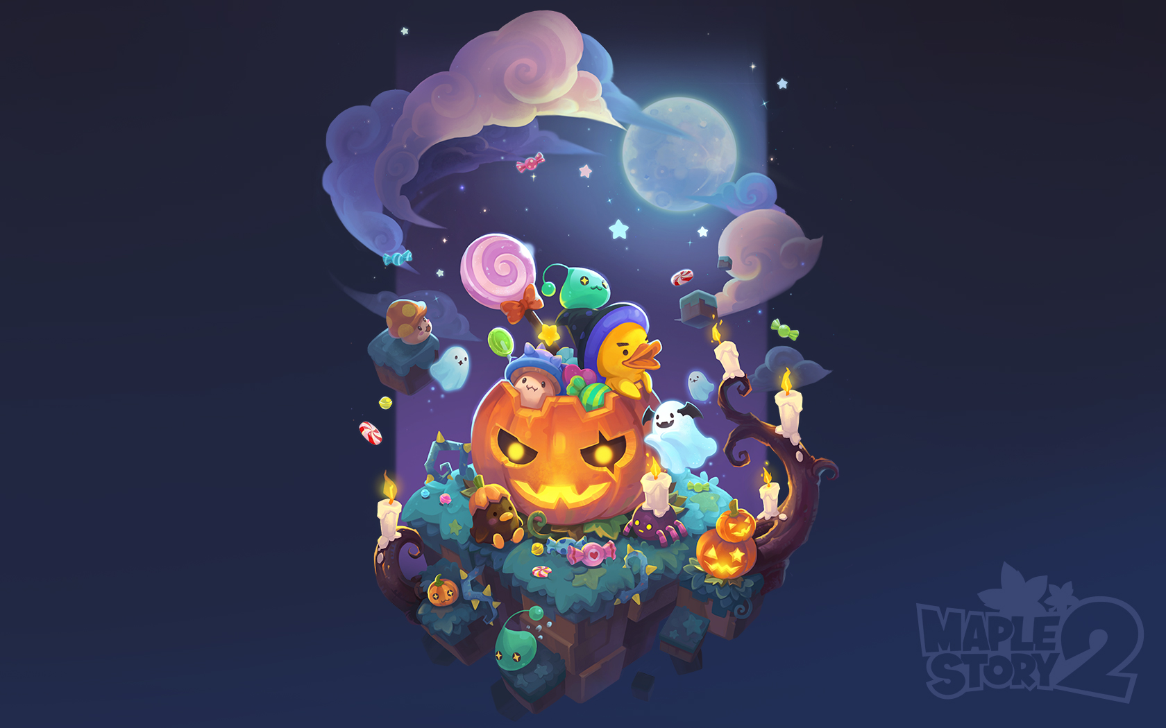 Halloween Wallpaper Official MapleStory 2 Website 1680x1050