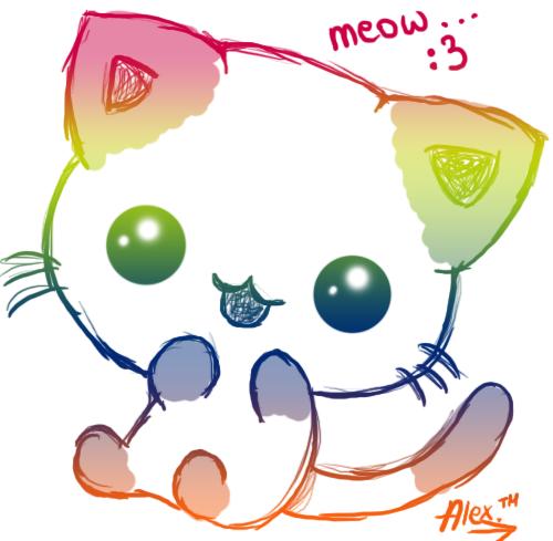 kawaii cat by aleks96 500x489