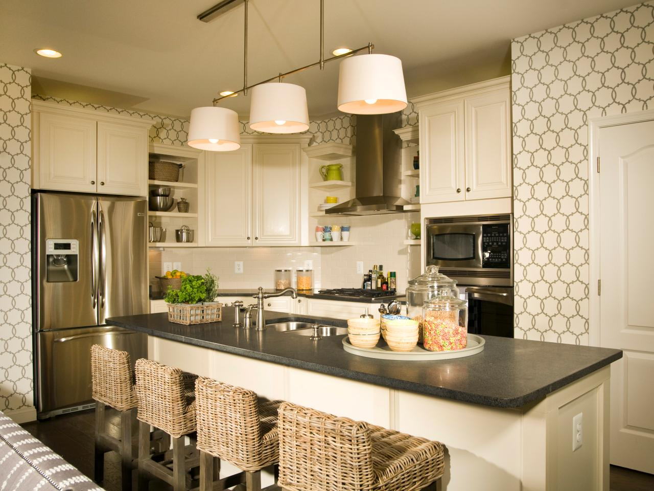 Black And White Kitchen Wallpaper Kitchen Category 1280x960