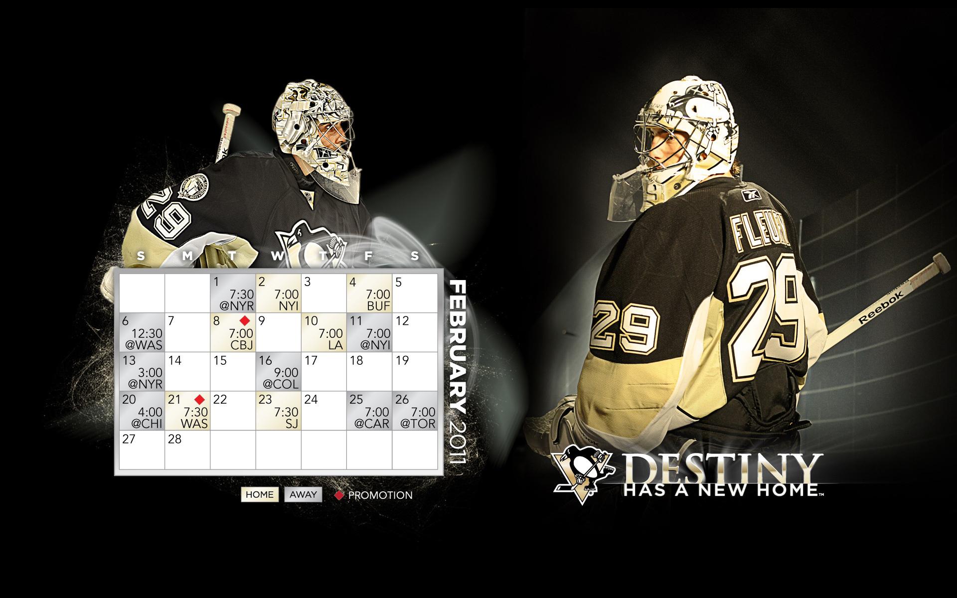 February 2011 CalendarSchedule   Marc Andre Fleury Wallpaper 1920x1200