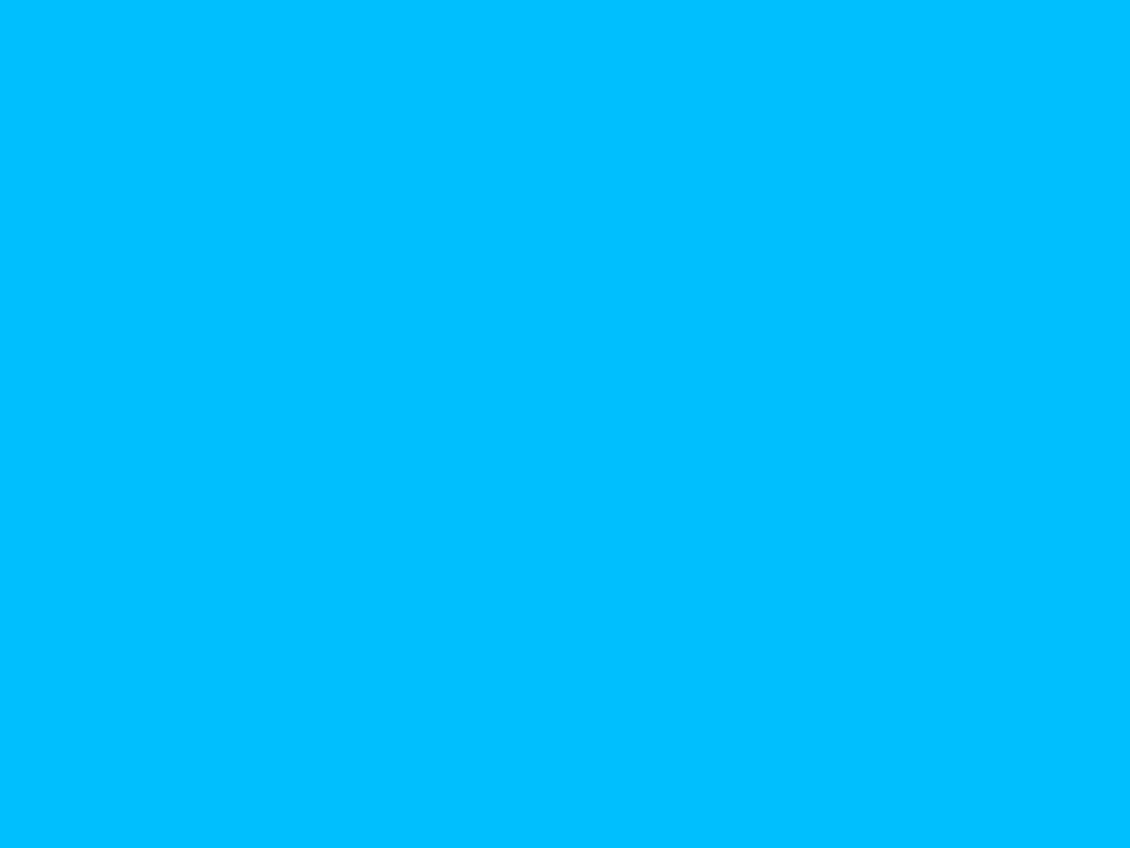 1600x1200 resolution Deep Sky Blue solid color background view 1600x1200