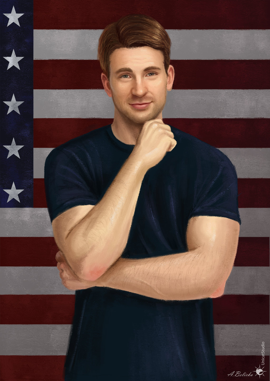 Steve Rogers Captain America by UnicatStudio 1024x1448