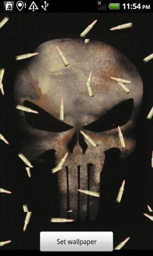 View bigger - Punisher Skull Live Wallpaper for Android screenshot