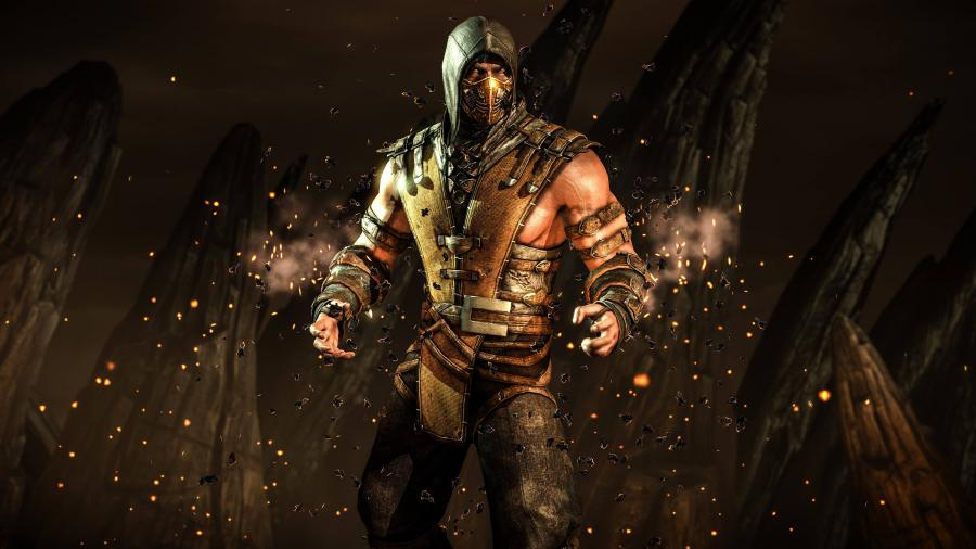 Mortal Kombat X 2015 Scorpion 4K Wallpaper 900x506