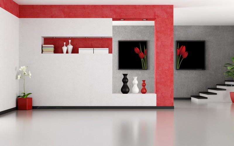 Name Minimalist Red And White Interior Design Wallpaper 800x500