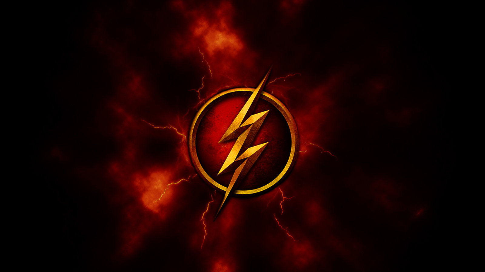 Red and Gold Flash Logo Wallpaper 1920x1080 by DeviantHitman83 on 1600x900