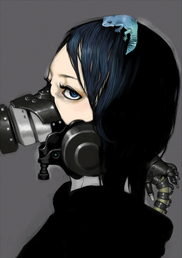 Anime gas mask wallpaper wallpapersafari - Anime girl with gas mask ...