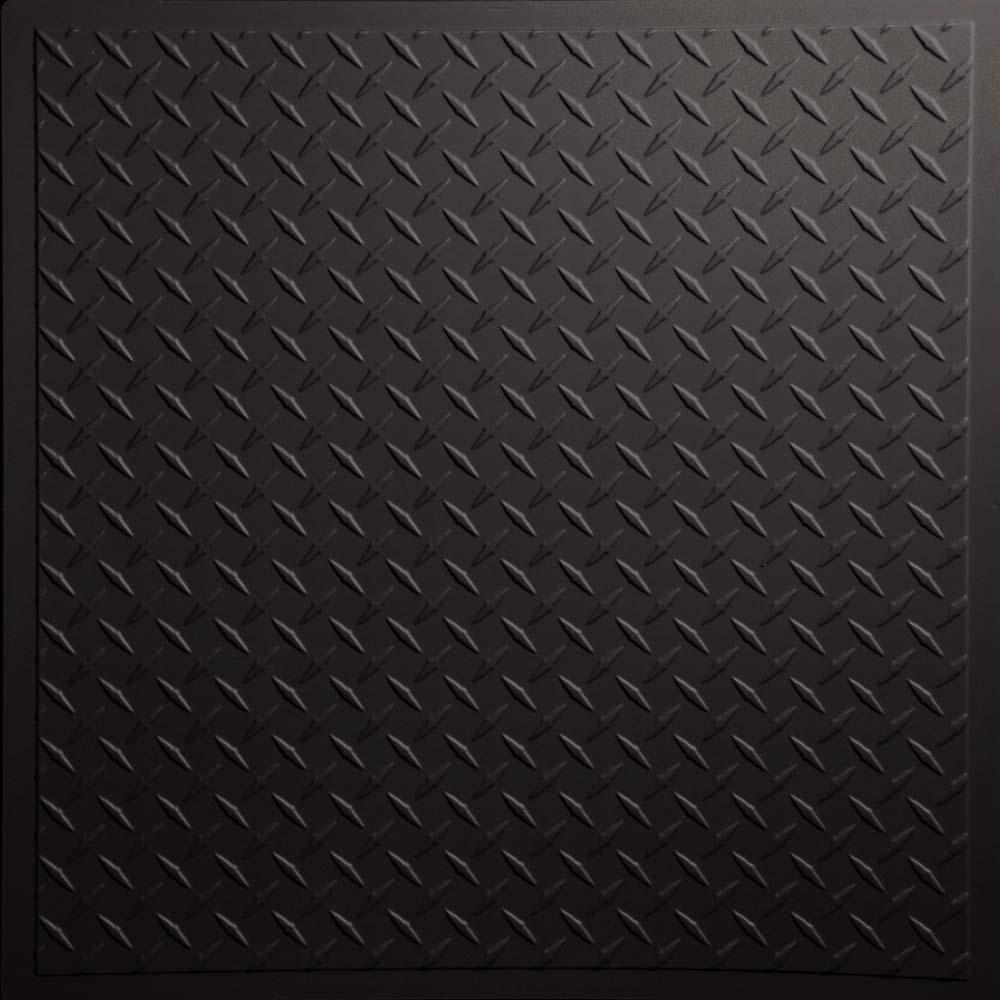 Diamond Plate   Black   by Ceilume 1000x1000