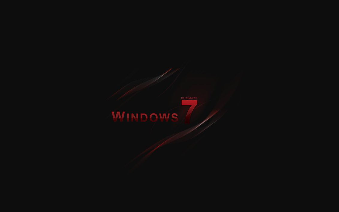 Red Windows 7 Wallpaper