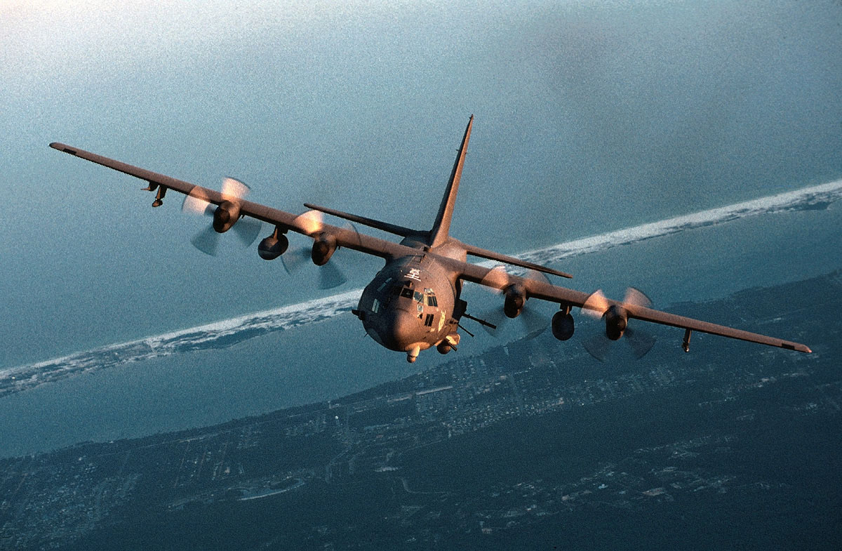 AC 130 Gunship Heavily Armed Ground Attack Aircraft Fighter Jet 1200x785
