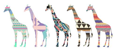 animals cute hipster patterns shelsieann 500x220