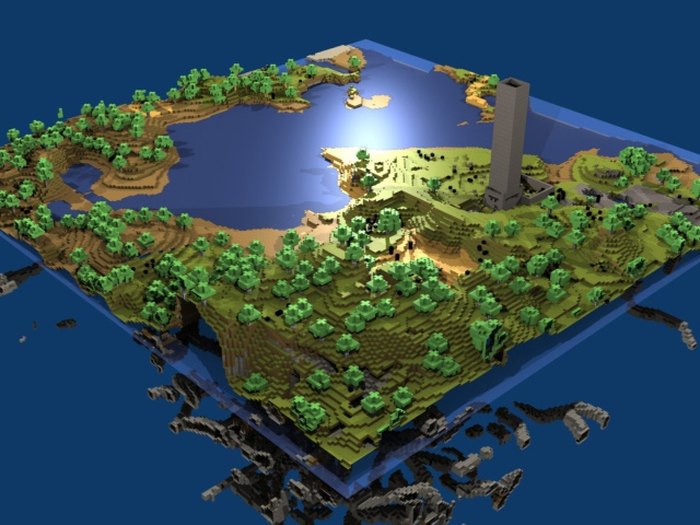 Landscape Minecraft tower wallpapers and images   wallpapers 640x480