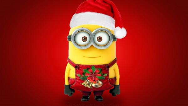Christmas Santa Minion   HD Wallpaper 1080p   DesktopMACiPhone 600x338
