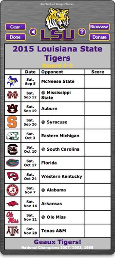 Lsu Football Schedule 2015 2016 Lsu Football Schedule 2015 2016 236x527