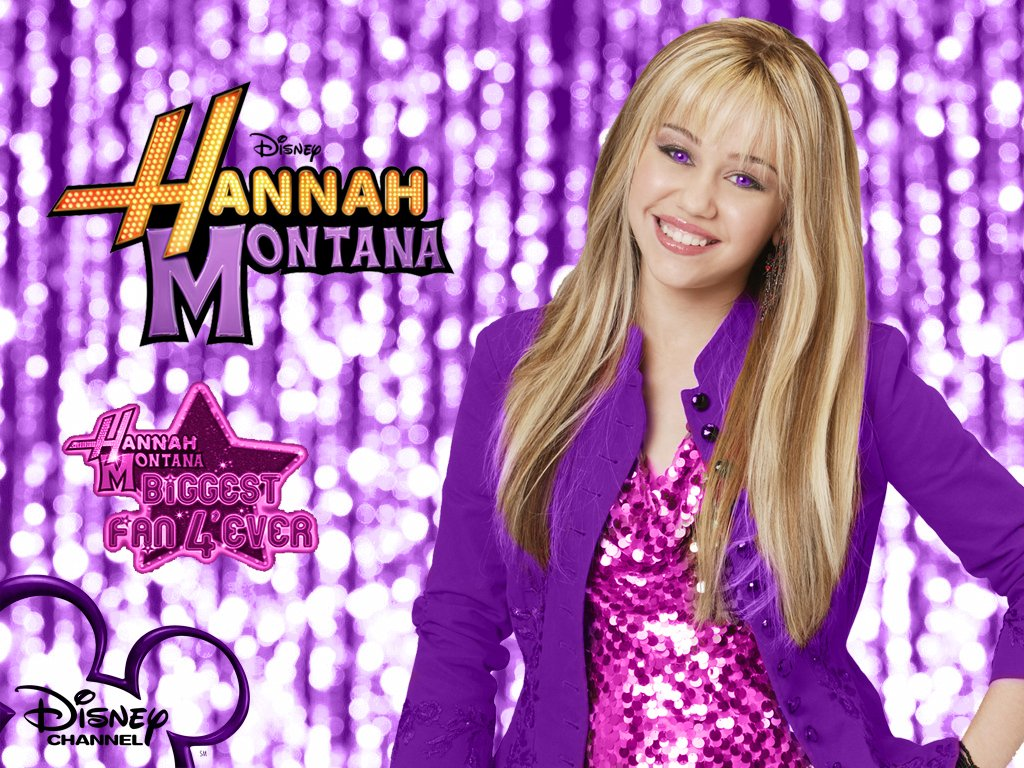 Hannah Montana Season 1 Purple Background wallpaper as a part of 1024x768