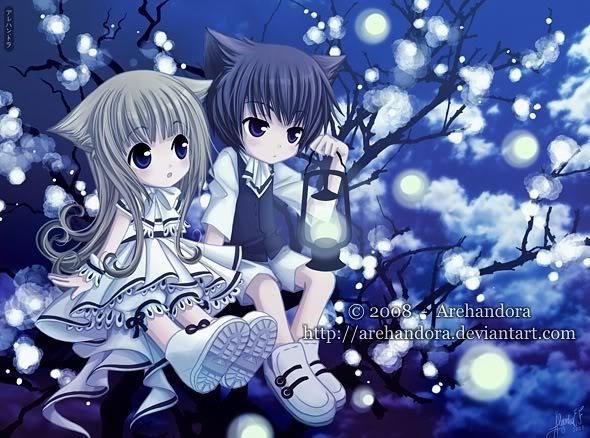 Neko Anime Girl And Boy Graphics Code Neko Anime Girl And Boy 590x438