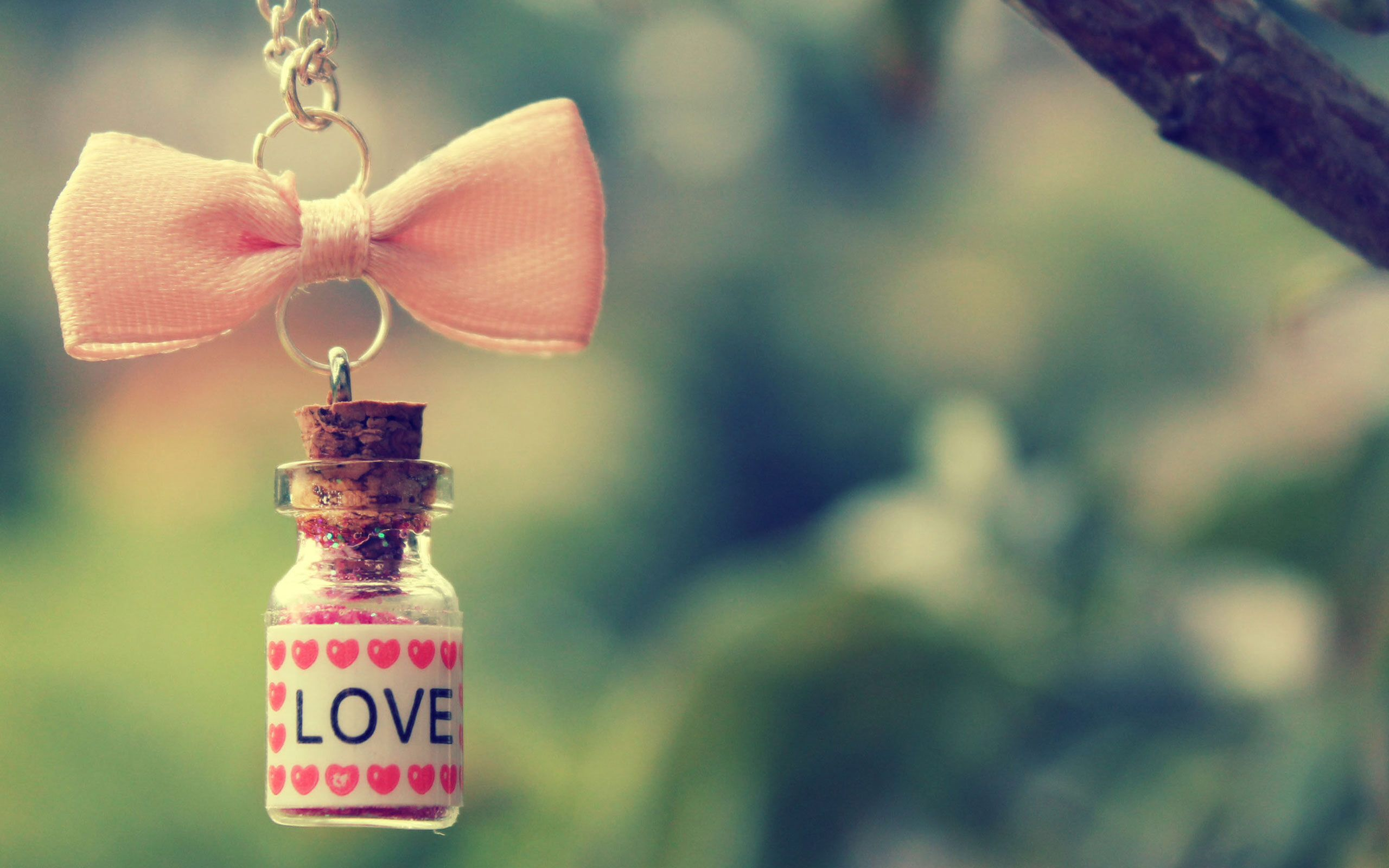 Love bottle charm wallpaper Wallpapers Cute love wallpapers 2560x1600