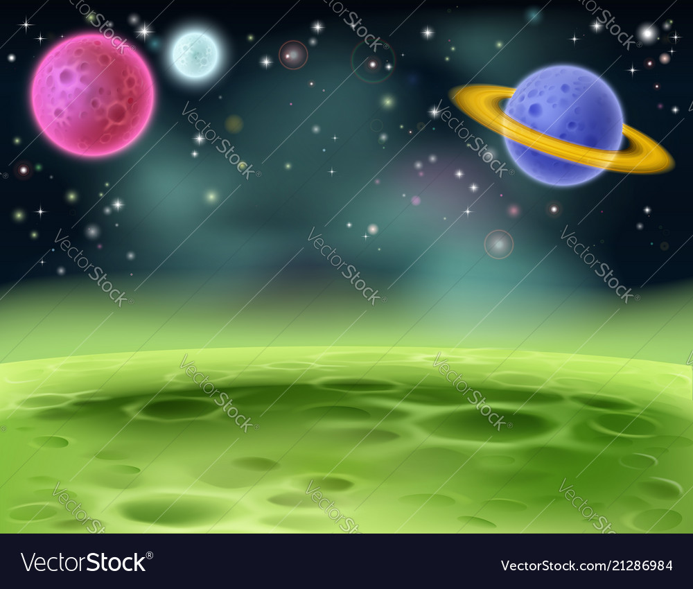 Outer space cartoon background Royalty Vector Image 1000x850