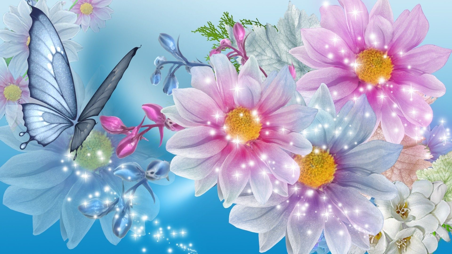 166 Artistic Flower Butterfly Wallpaperbutterfly wallpaper 1920x1080