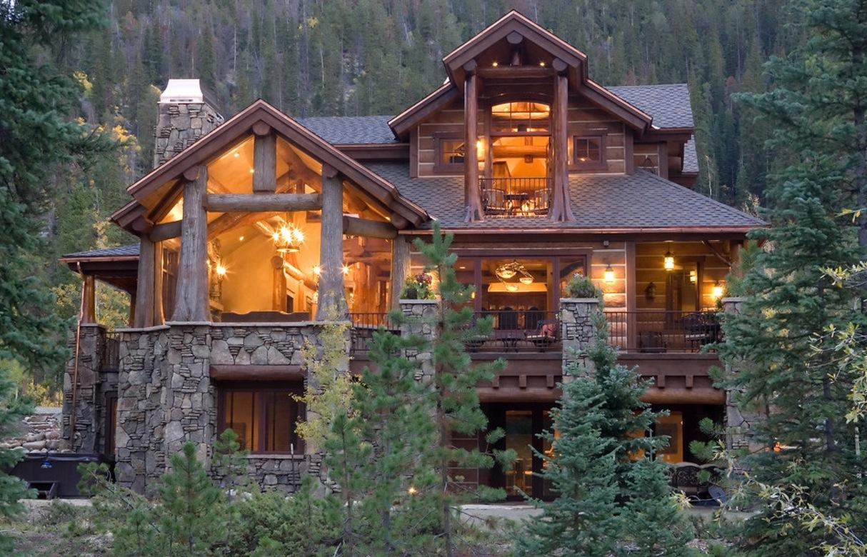 Style House Log Cabin Design   1214x780 iWallHD   Wallpaper HD 1214x780