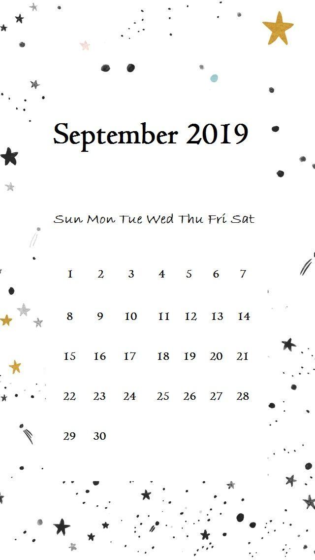 September 2019 iPhone Calendar Wallpaper september september2019 640x1136