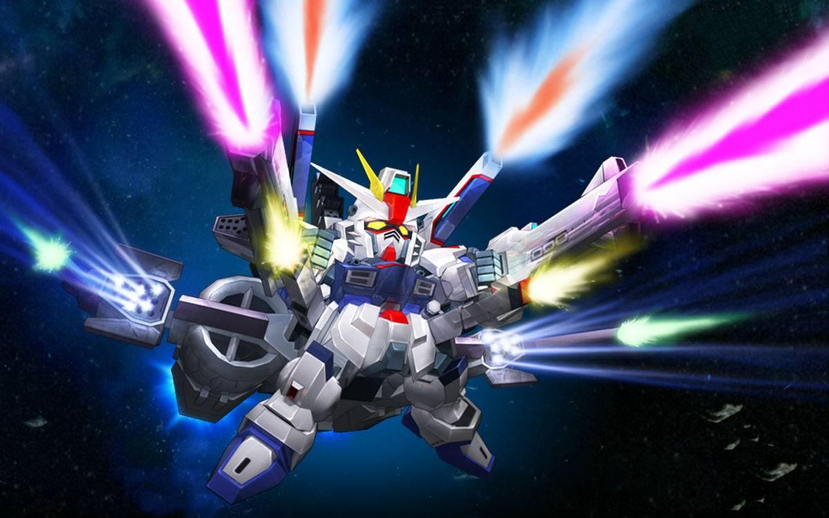 Strike Freedom   SD Gundam Capsule Fighter Online Wallpaper 1200x750