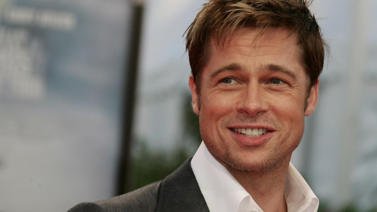 Brad Pitt new smiling HD Wallpapers 1600x900
