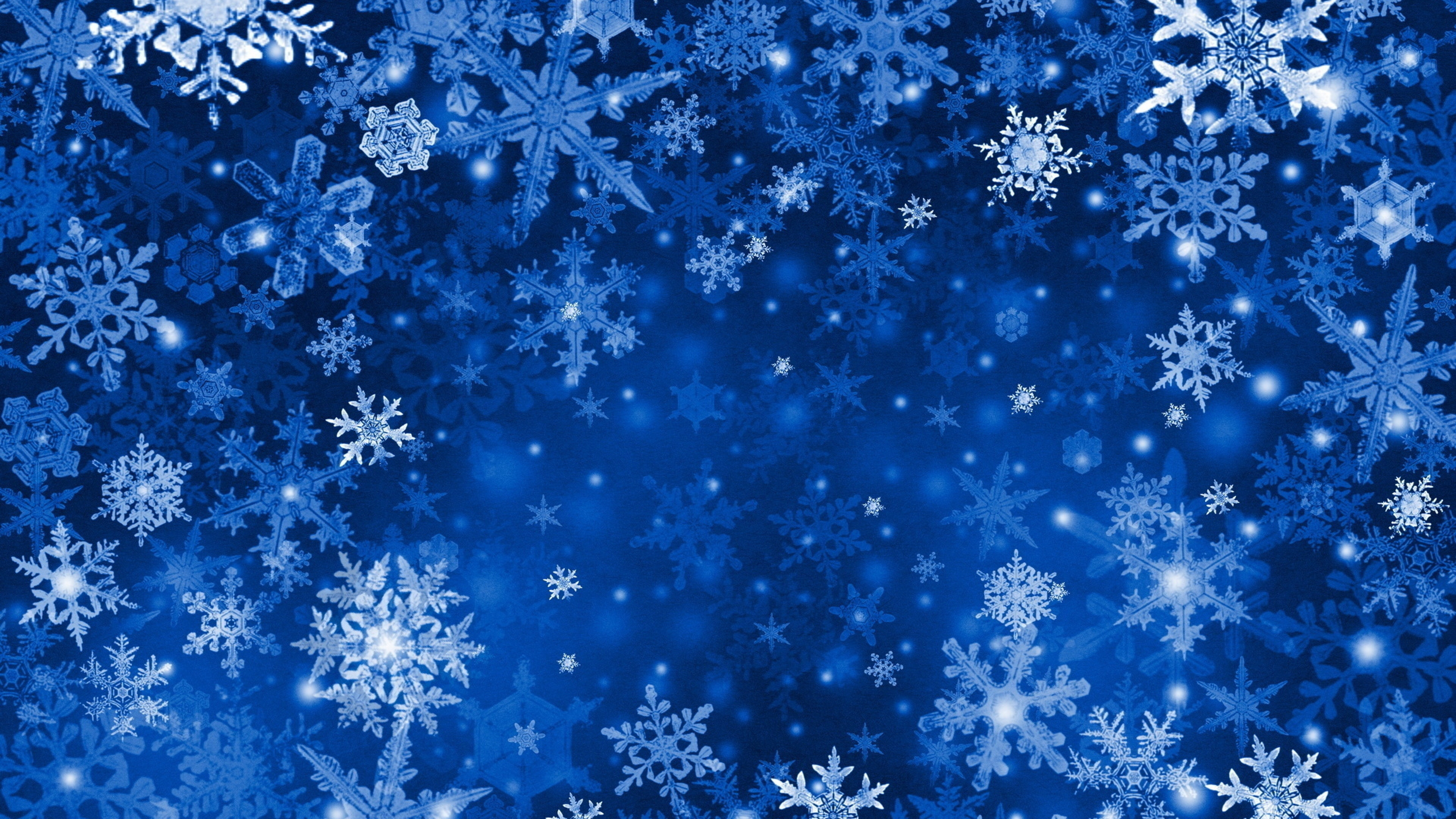 Wallpaper 3840x2160 Snowflakes Background Bright Texture Winter 4K 3840x2160