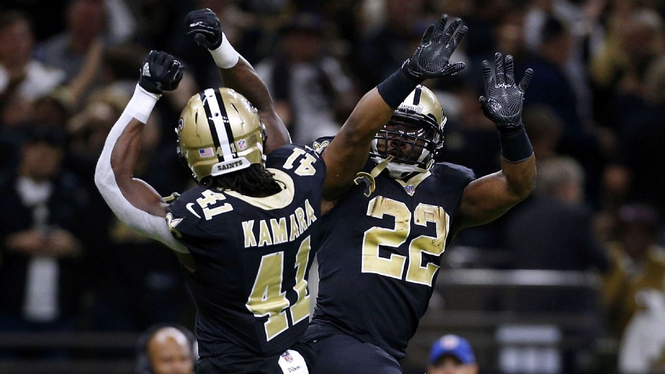 Alvin Kamara No1 Overall in 2019 Fantasy Drafts Not Crazy if 1296x729