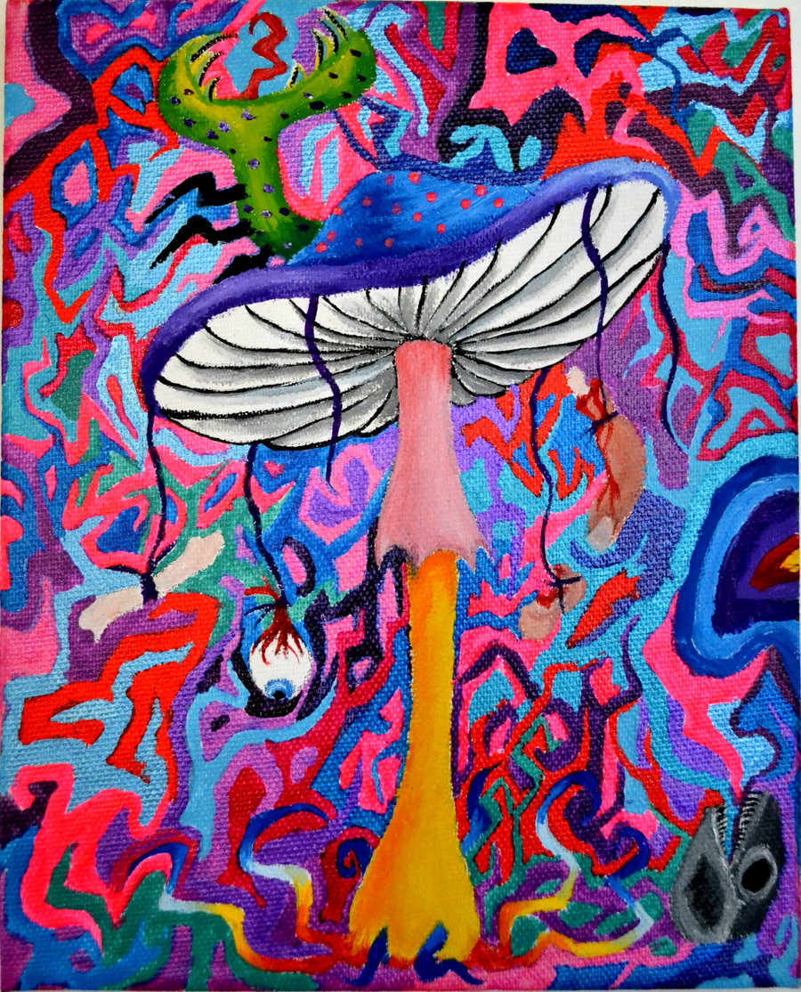 Home Digital Art Illustrations Trippy Mushroom Background 900x1114