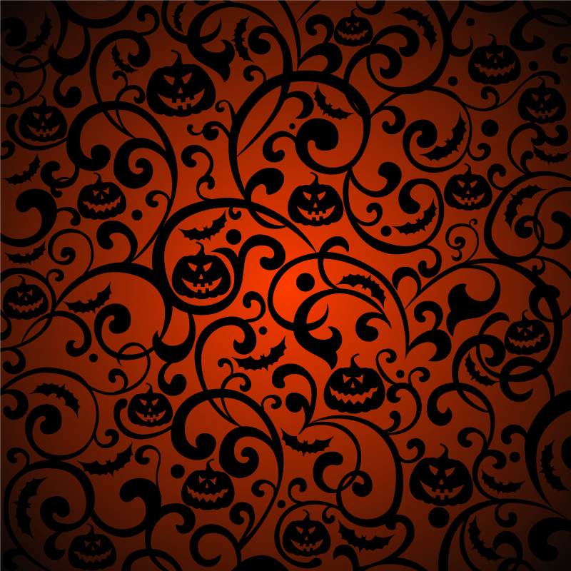 Halloween Pattern Background Vector Vector Graphic Download 800x800