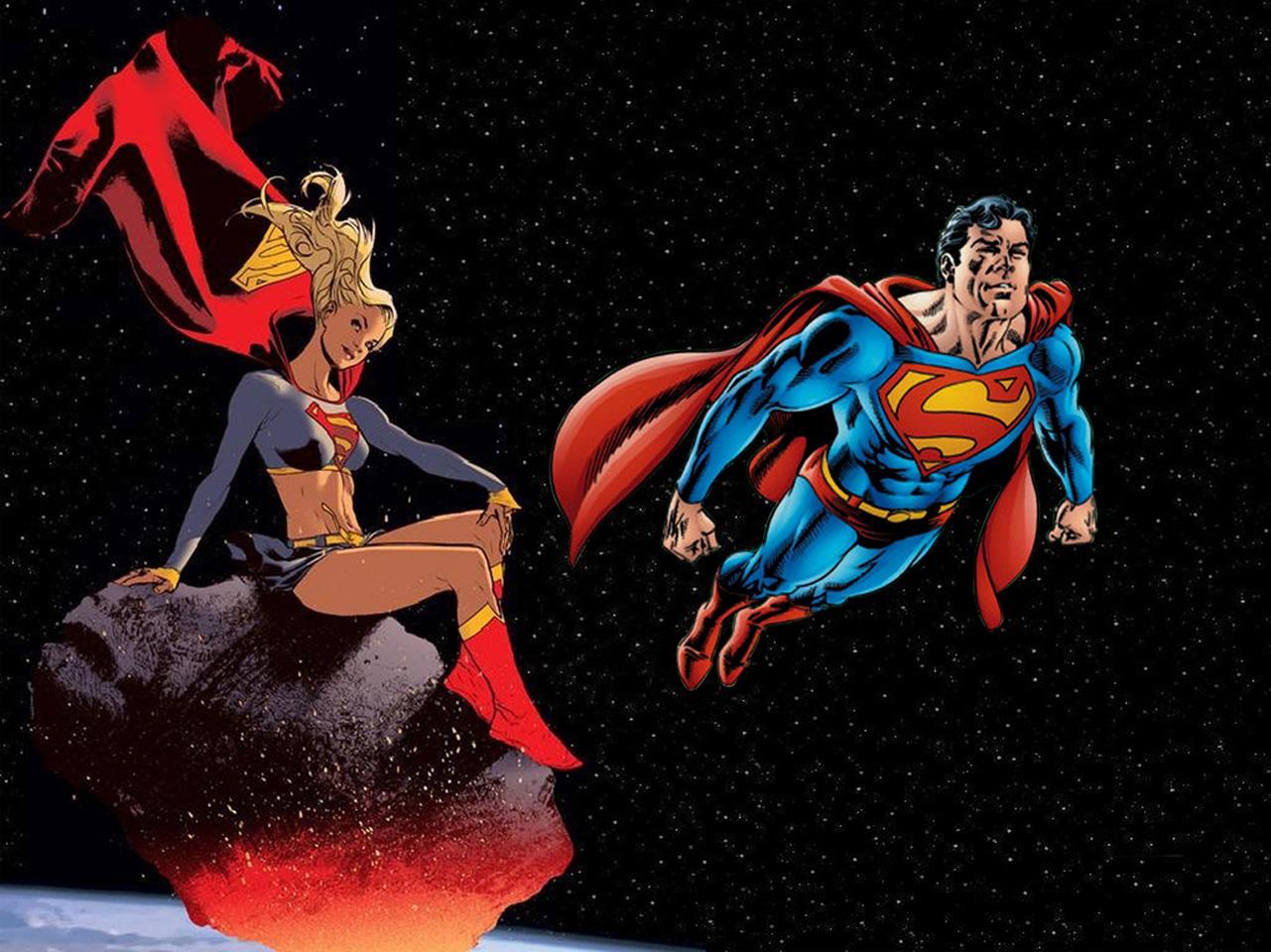 Superman Supergirl 1152 x 864 Comic Wallpapers 1281x960