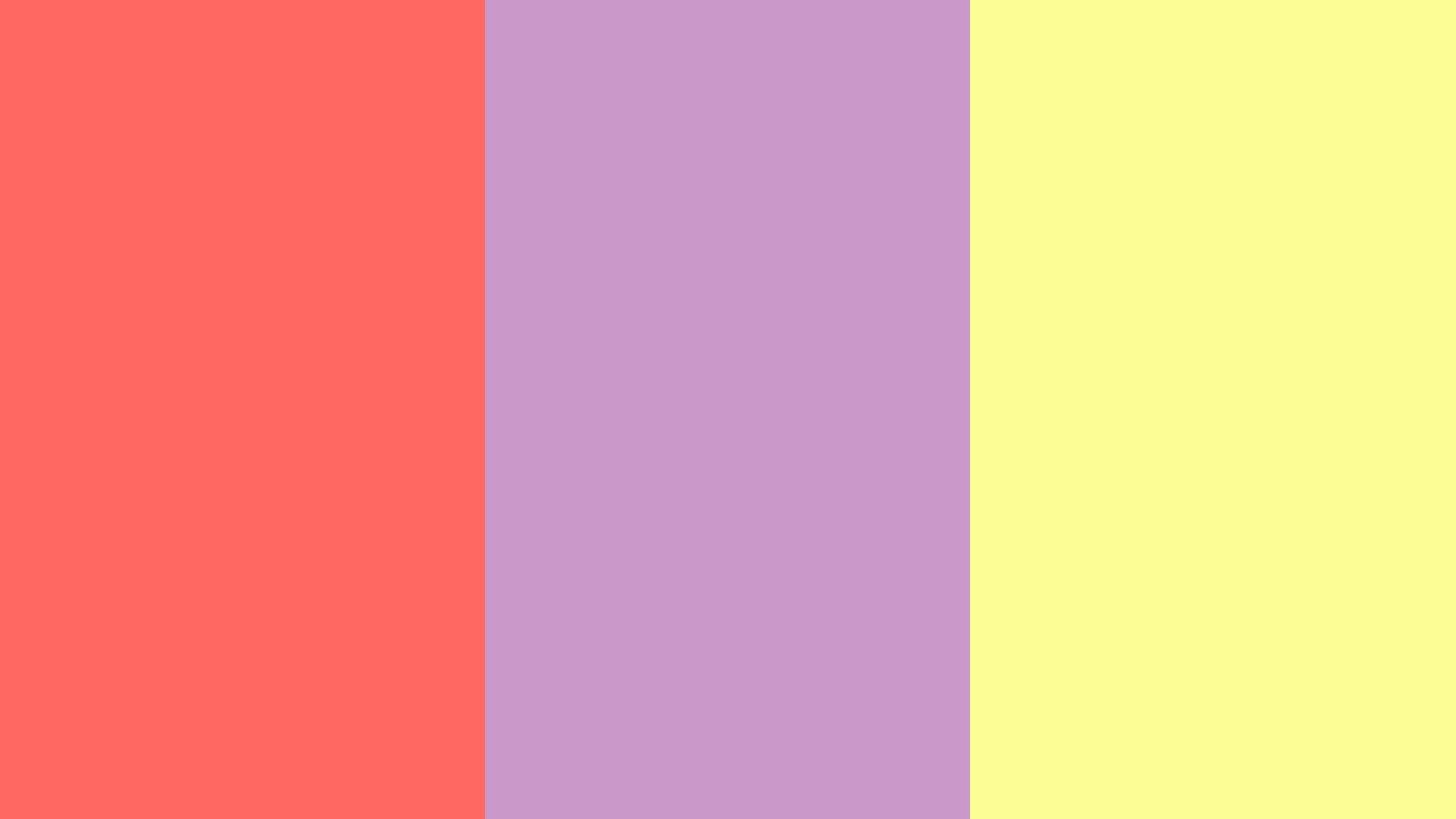 pastel red pastel violet pastel yellow three color backgroundjpg 1600x900