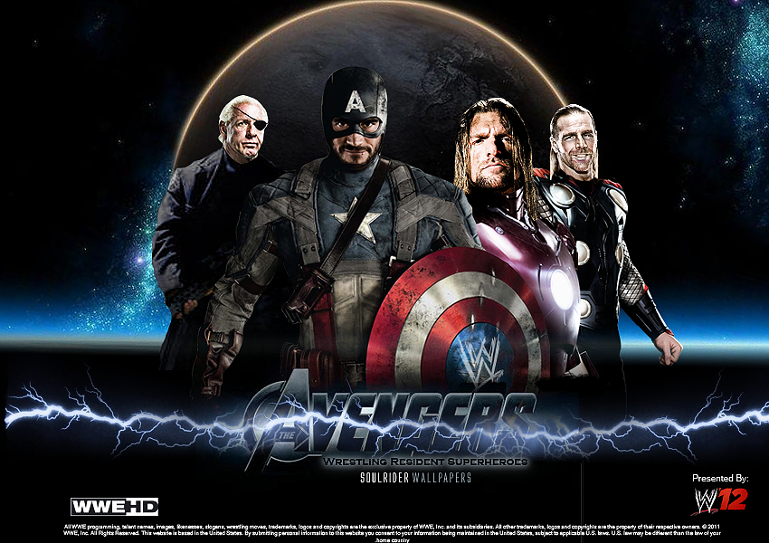 The Wrestling Avengers Wallpaper by SoulRiderGFX 850x600