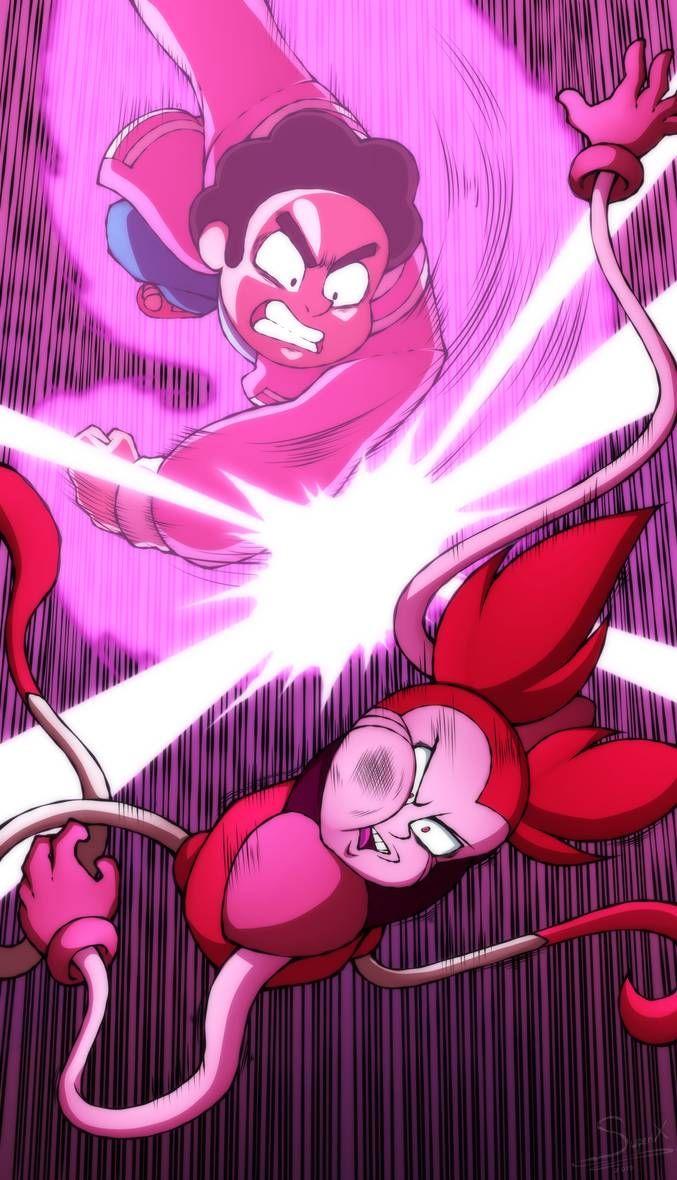 Steven vs Spinel by XSuperiX Steven universe 677x1180