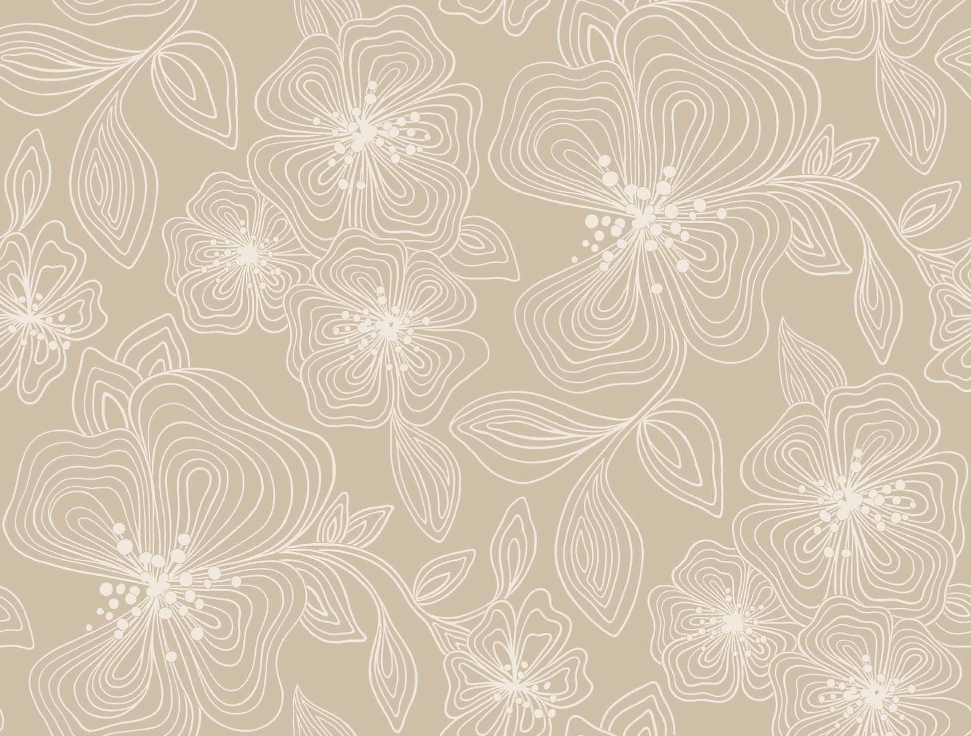 Fine Art Designer Classics LINEWORK FLORAL [YUL 97260] Designer 1944x1474