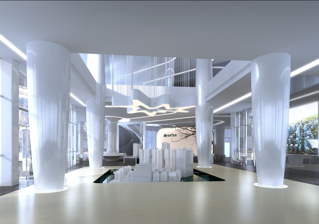 Sales department real estate company interior design 3d 3D house 1023x720