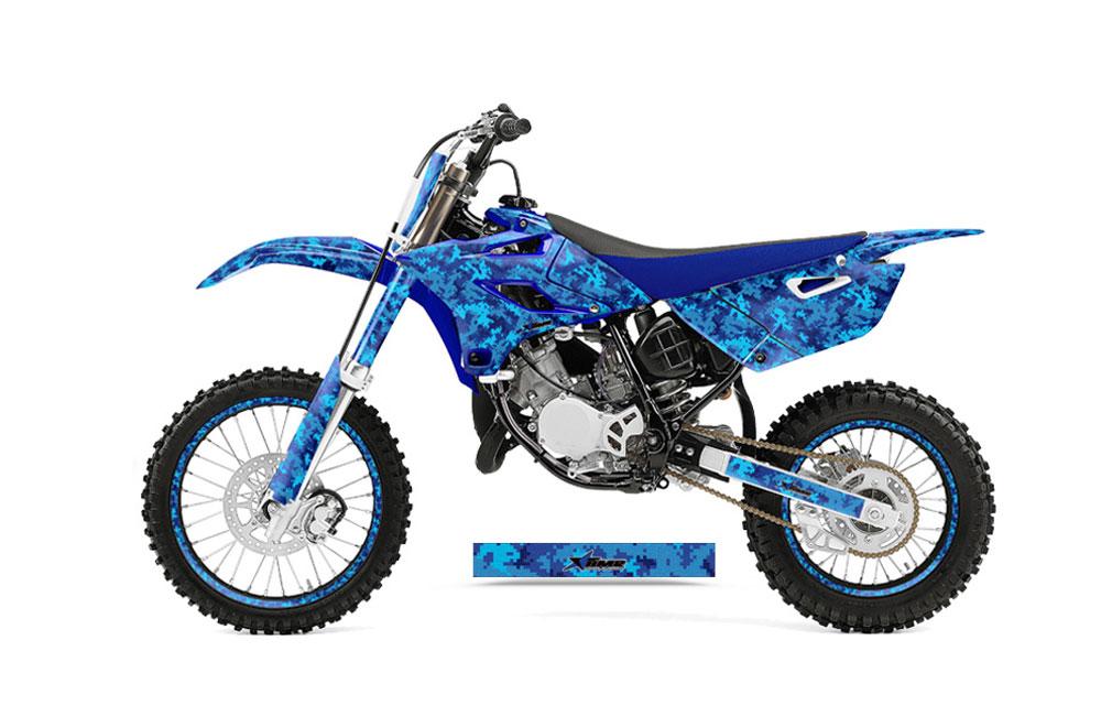 Yamaha YZ85 Dirt Bike Graphics Digicamo   Blue MX Graphic Decal 1000x660