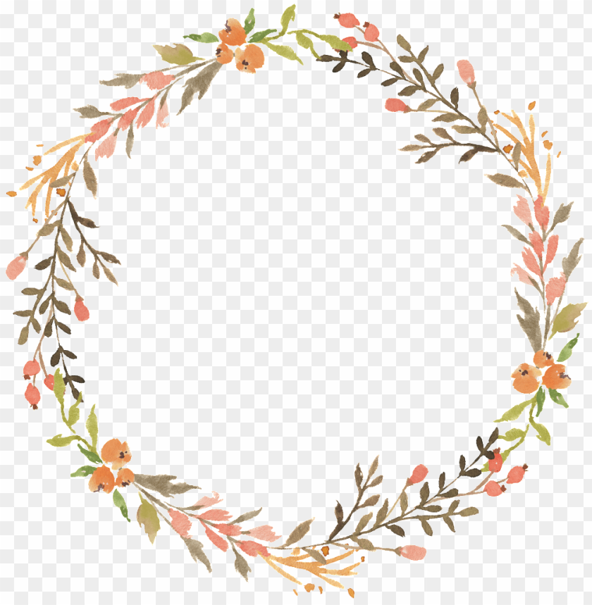 transparent floral wreath PNG image with transparent background 840x859