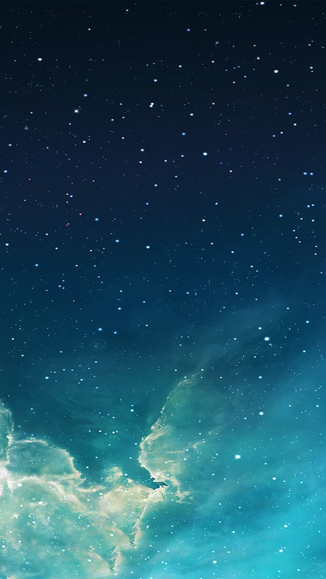 FREEIOS7 galaxy blue 7   parallax HD iPhone iPad wallpaper 640x1136