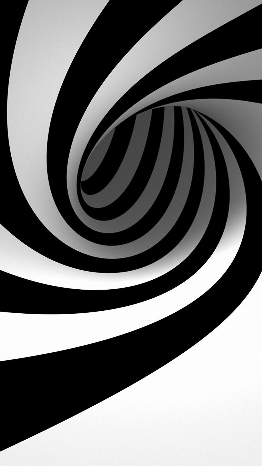HD 3d black and white wallpaper for iPhone 6 6s plus 1080x1920