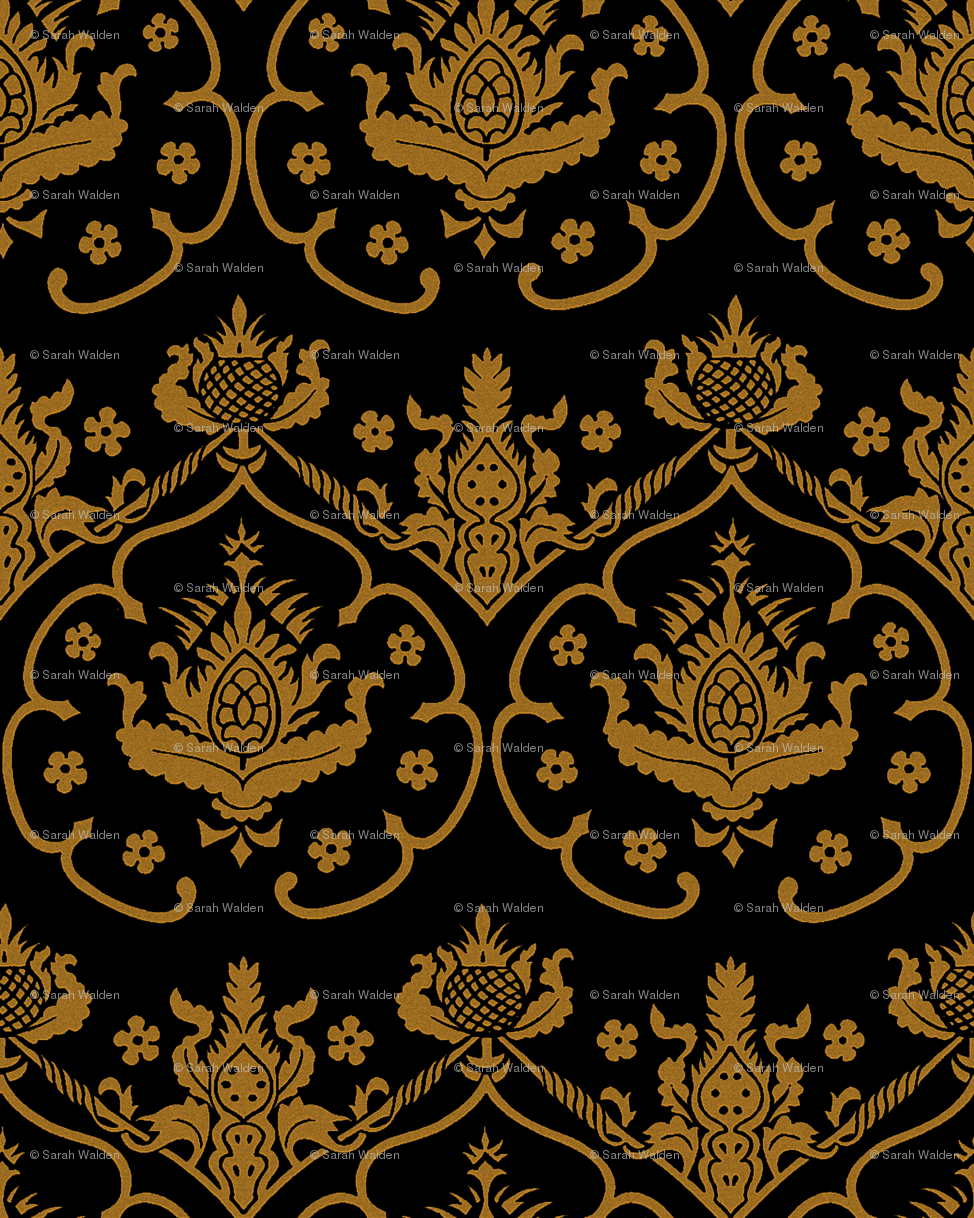 Top Black And Gold Damask Wallpaper Images for Pinterest 974x1218