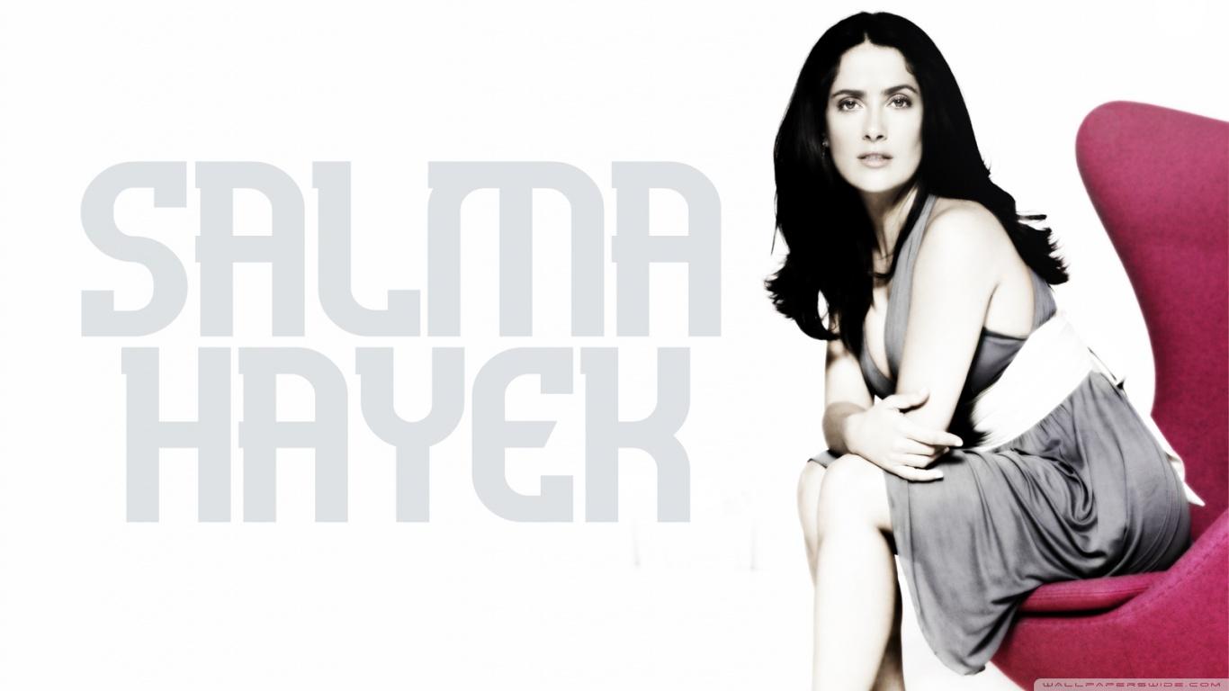 Salma Hayek 4K HD Desktop Wallpaper for 4K Ultra HD TV Tablet 1366x768