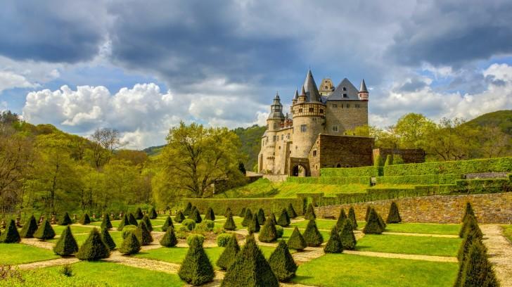 Wallpaper Buerresheim German Castle Park   Wallpapers HD Download 728x408